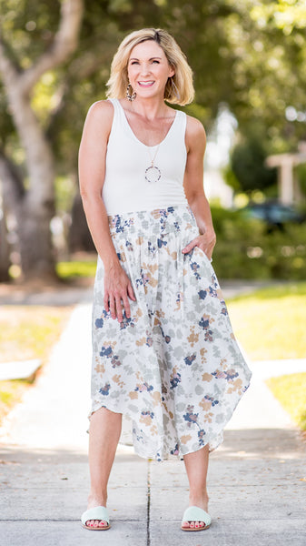 The Christine Woven Printed Skirt