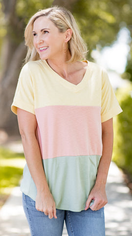 Perfect Shade of Summer Round Neck Top