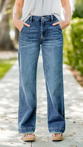 The Heidi High Rise Wide Leg Jeans