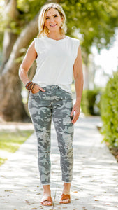 The Carrie Camouflage Distressed Pants