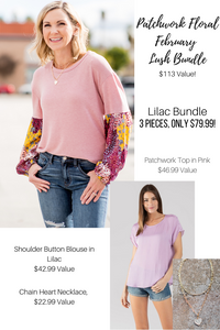 Patchwork Floral February Lush Bundle- 2 Colors!