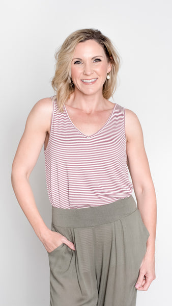 The Maya Everyday Striped Tank Top- 3 Colors!