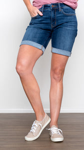 Judy Blue Regular Dark Denim Bermuda Shorts