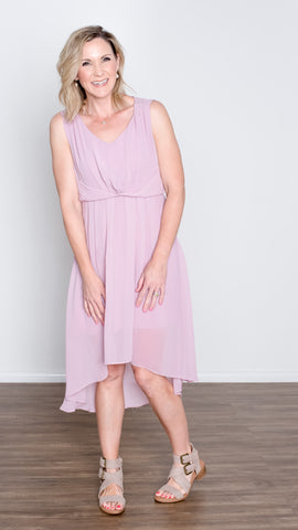 Chiffon Lavender Dress