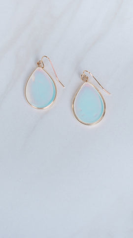 Teardrop Iridescent Gold Earrings