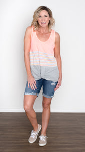 Hot Summer Neon Twist Front Tank