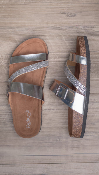 Silver Screen Slip On Sandal