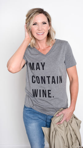 May Contain Wine Graphic Tee