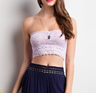 Lace Bandeau Top