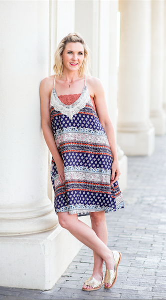 Sail Away Printed Rope Dress