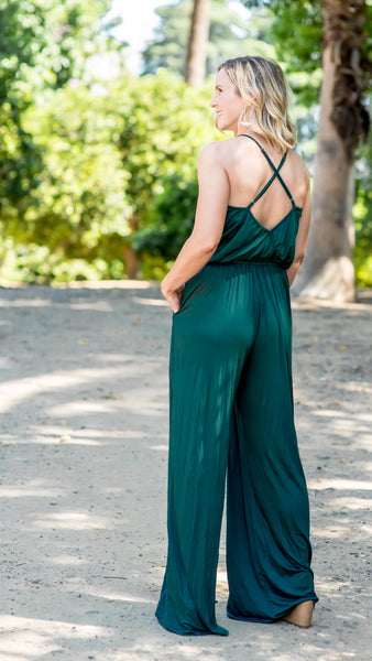 The Scarlett Sleeveless Wide Leg Jumpsuit