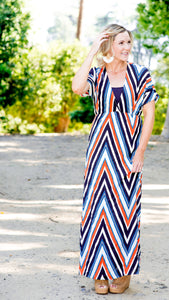 Meet Me at the Marina Striped Maxi Dress