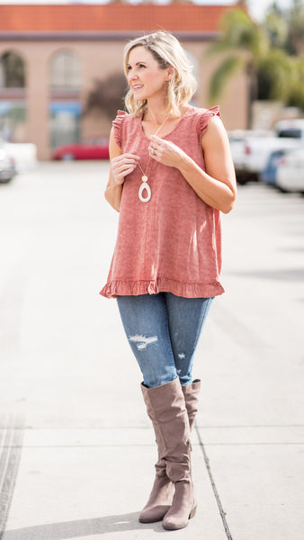 Maple Ruffled Bottom Tunic