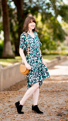 Leopard Button Down Kimono Dress