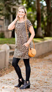 Day off or Night Out Leopard Knit Dress