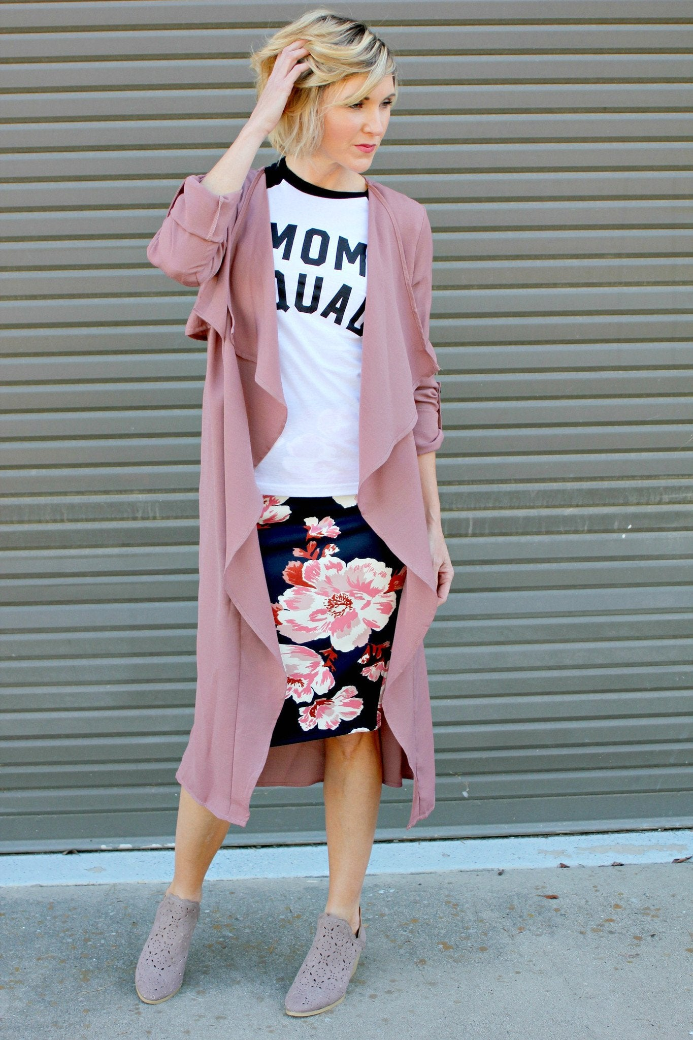 Ruffled Blush Duster
