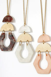 Geo Shape Pendant Necklace