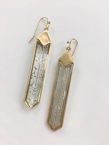 Art Deco Metal Earrings