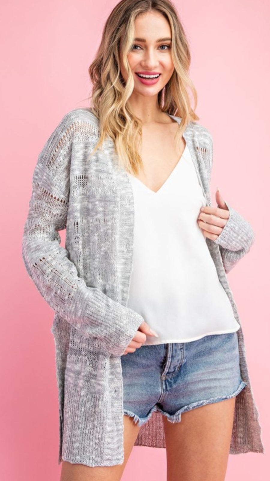 Gray Skies Knitted Cardigan