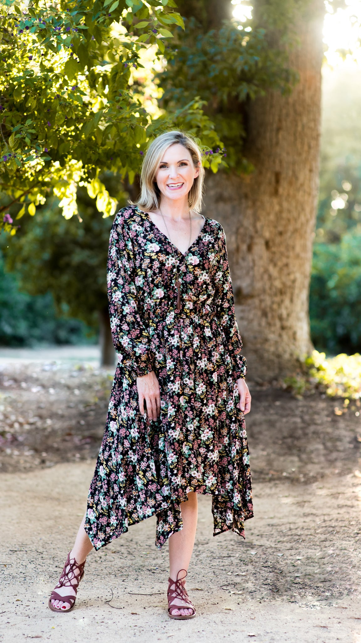 Making Fall Bouquets Smocked Midi Dress