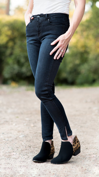 Lola Black Blue Stretch Skinny Jean