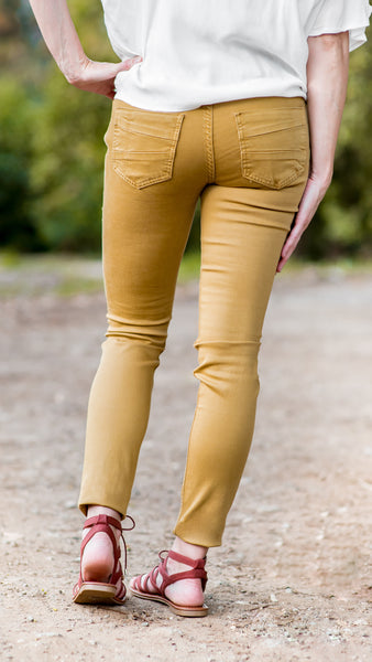 Sarina Colored Stretch Skinny Jean- Mustard