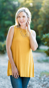 The Jane Ribbed Tunic Top- 3 Colors!