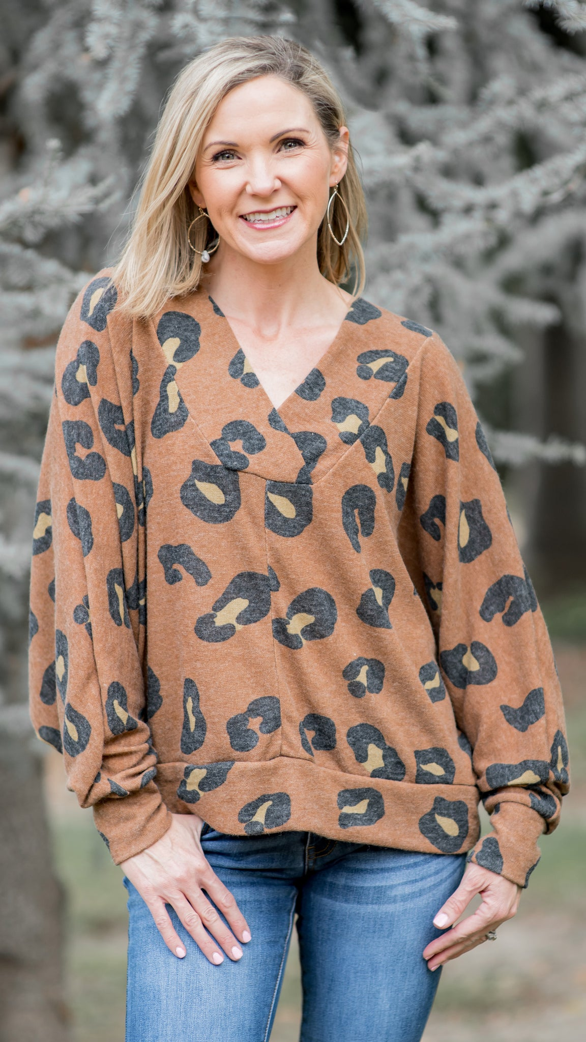 For the Love of Leopard Dolman Sleeve Top