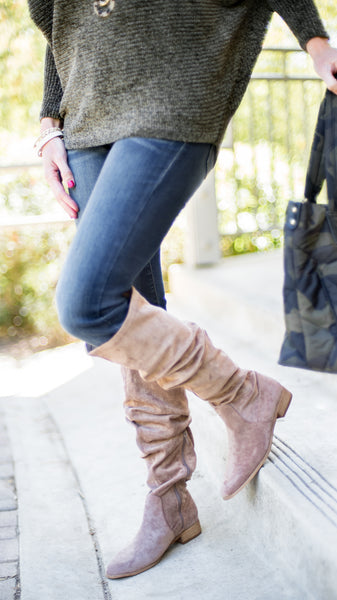 The Stella 2 Way Style Tall Suede Boot
