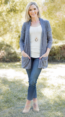 Wrapped Up Cute Marled Knit Cardigan- 3 Colors!