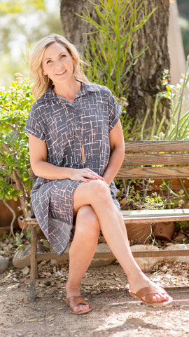 Between the Lines Woven Shift Dress
