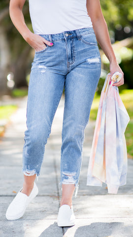 The Kristen High Rise Mom Jean