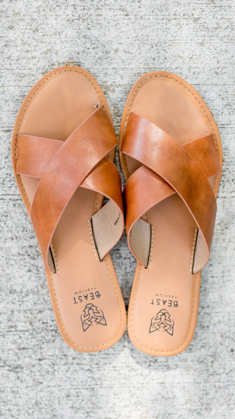 The Kaylee Crisscross Slip On-Camel