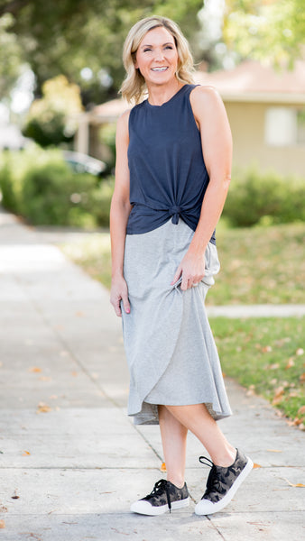 Essential Knit Rib Skirt