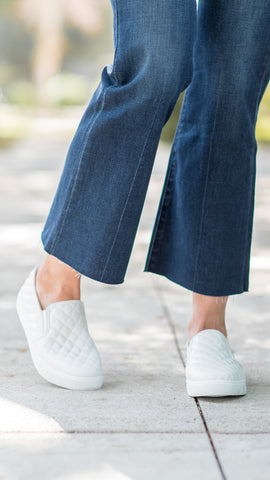 The Celine Quilted Platform Comfort Sneakers