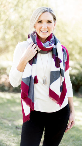 Camo Rectangular Scarf- 2 Colors!