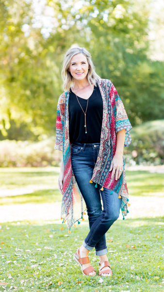 Keep it Light Sheer Paisley Kimono