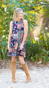 Madrid Floral Swing Dress
