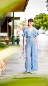 The Tiffany Dusty Blue Jumpsuit