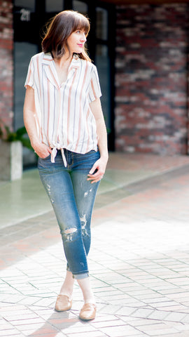 The Miley Collared Button-Up Top