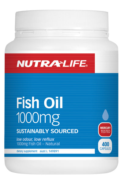 Nutra life fish oil 1000mg 400 capsules dr vitamins for Purpose of fish oil