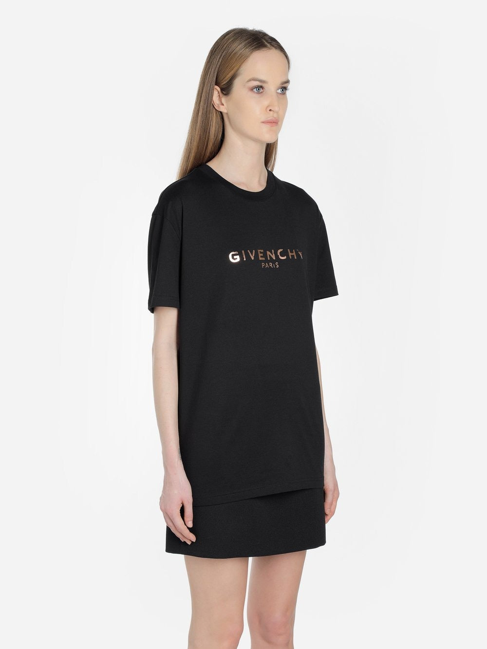 Givenchy women's black vintage logo t-shirt