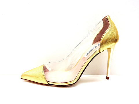 Designer Leather Shoes For Women Gold