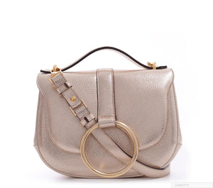 Luxury Gold Leather Handbag