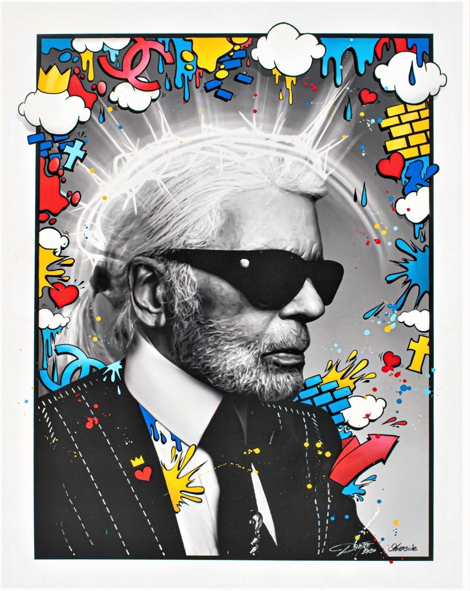 Karl Lagerfeld unpublished painting by PIOTRE, 2020
