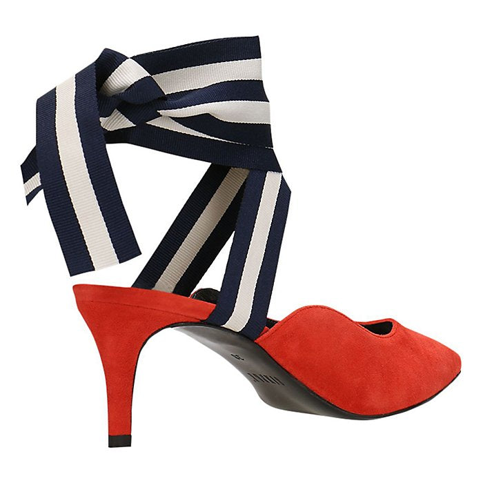 GINO ROSSI RIBBON SHOES STILETTOS RED