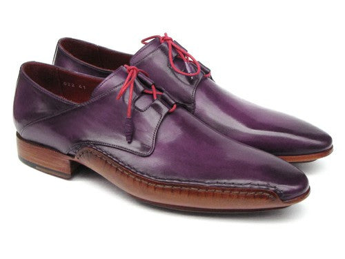GHILLIE LACING SIDE HANDSEWN DRESS SHOES - PURPLE LEATHER UPPER AND LEATHER SOLE