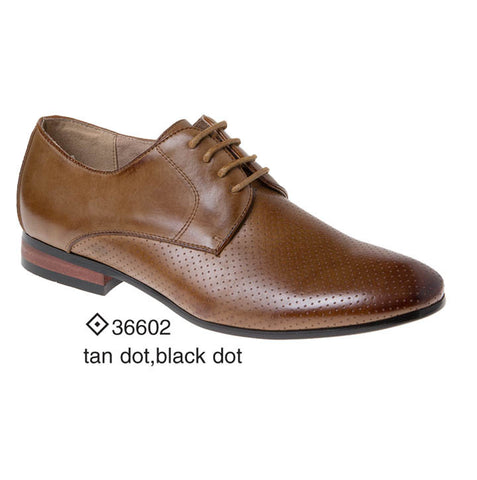 Eugene Tan and Black Dotted Derby Majestic