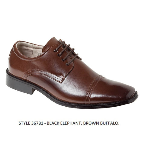Brown Buffalo Captoe Derby