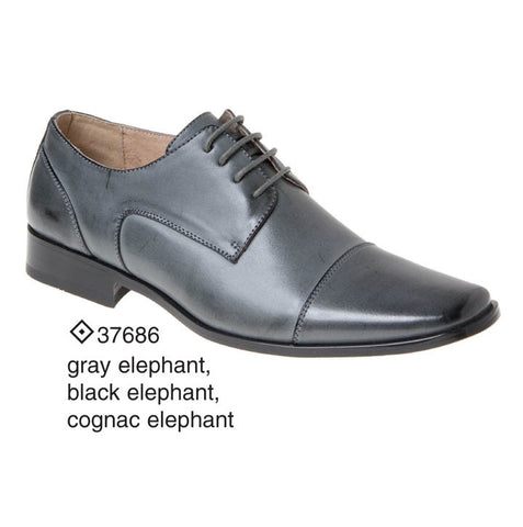 Grey Elephant Captoe Derby
